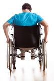 Driving a wheelchair Royalty Free Stock Image