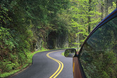 Driving through the winding roads of the Smoky Mountains Royalty Free Stock Image