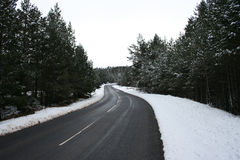 Driving in winter Stock Photography