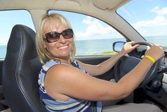 Driving woman Stock Photos