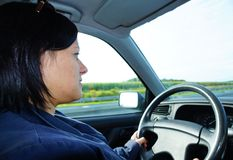 Driving woman Royalty Free Stock Photos