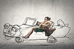 Driving woman royalty free stock images