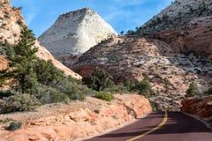 Driving through Zion National Park Stock Photos