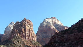 Driving Through Zion National Park Utah stock footage