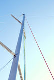 Driza de Staysail en el palo Imagen de archivo