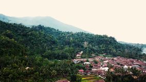 Drizzling on the mountains. At pandeglang banten west java indonesia stock video footage