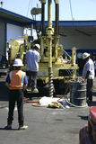 drlling załogi platformy Zdjęcie Royalty Free