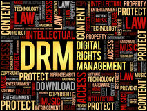 DRM - Digital Rights Management word cloud Royalty Free Stock Photography