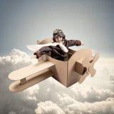 Drömmar av att vara en pilot Arkivfoto