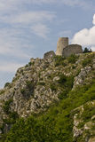 Drnis fortress on the cliff Stock Image