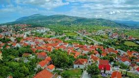 Drnis panorama aerial stock video footage