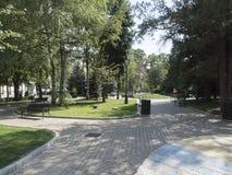 Tudor Vladimirescu Park in Drobeta-Turnu Severin, Romania Royalty Free Stock Photo