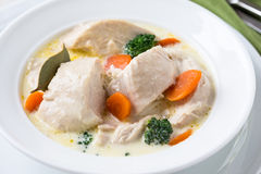 Drobiowy blanquette, białego mięsa gulasz Obrazy Stock
