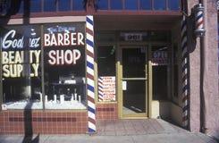 Drobnomiasteczkowy zakład fryzjerski fotografia stock