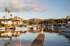 Drodzy domy Ventura i łodzie Zdjęcia Royalty Free