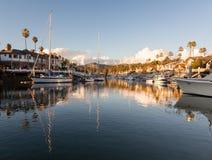 Drodzy domy Ventura i łodzie Fotografia Stock