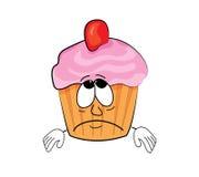 Droevig cupcakebeeldverhaal Royalty-vrije Stock Afbeelding