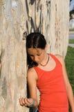 Droevig eenzaam ongelukkig jong geitje Royalty-vrije Stock Afbeelding