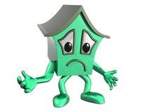 Droevig huis stock illustratie