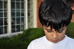 Droevig Little Boy Royalty-vrije Stock Foto