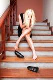 Droevig meisje Royalty-vrije Stock Foto