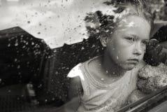 Droevig meisjesportret royalty-vrije stock fotografie