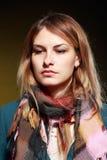 Droevig mooi meisje Royalty-vrije Stock Foto