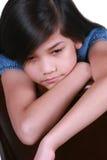 Droevig negen éénjarigenmeisje Royalty-vrije Stock Foto's