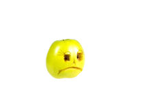 Droevig smileykwaad uit de appel Gevoel, houdingen stock fotografie