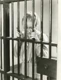 Droevig voor haar misdaad stock fotografie