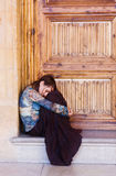 Droevig vrouwenportret Stock Foto's