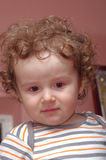 Droevig weinig baby Stock Foto's