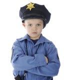 Droevig Weinig Cop stock afbeelding