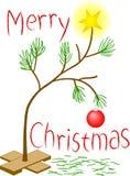 Droevig Weinig Kerstboom stock illustratie