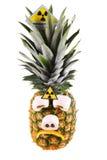 Droevige ananas Stock Foto's