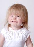 Droevige Baby Stock Foto