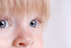 Droevige Baby stock fotografie