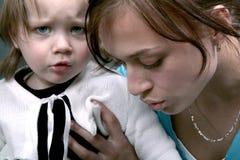 Droevige baby Stock Afbeeldingen