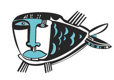 Droevige blauwe vissen Royalty-vrije Stock Foto's