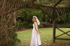 Droevige bruid royalty-vrije stock foto's