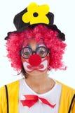 Droevige clown royalty-vrije stock fotografie