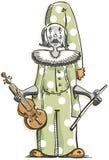 Droevige Clown stock illustratie