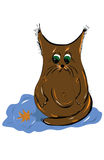 Droevige de herfstbladeren van de katjesvulklei royalty-vrije illustratie