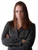 Droevige donkerbruine vrouw Stock Foto
