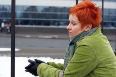 Droevige, eenzame vrouw royalty-vrije stock foto