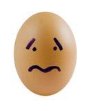 Droevige eieren royalty-vrije stock foto's
