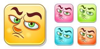 Droevige Emoticons-Inzameling stock illustratie