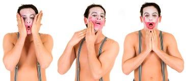 Droevige emotionele clown Royalty-vrije Stock Foto