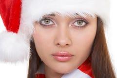 Droevige en aardige santa stock afbeeldingen