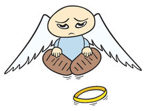 Droevige engel Stock Foto's